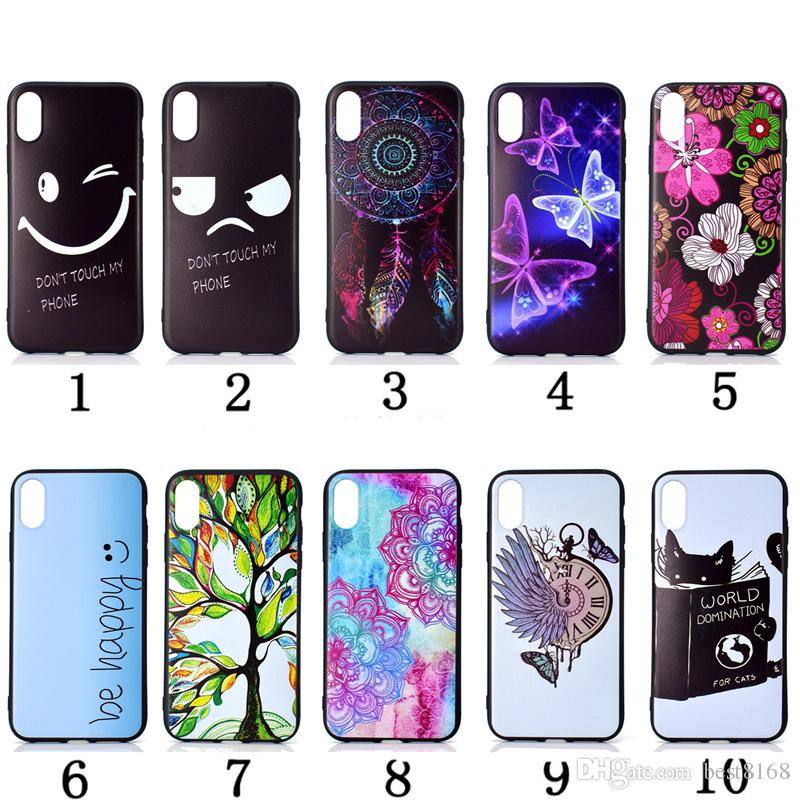 best website 62e47 f3ca9 Soft TPU Case For Iphone XR XS MAX X XS Galaxy Note 9 A8 Star J8 A6 Plus  2018 Dreamcatcher Flower Cat Butterfly Luxury Black Eye Phone Cover