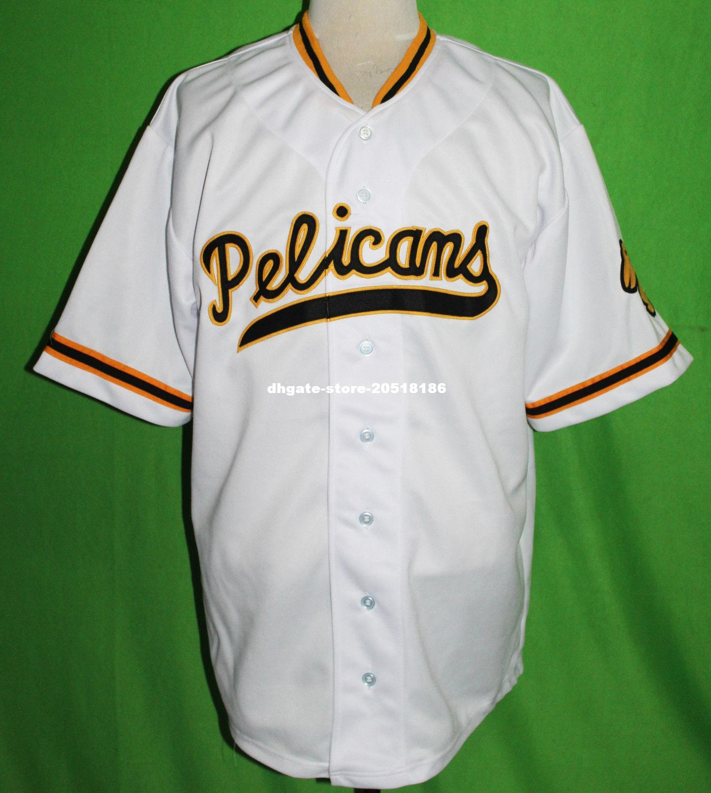 cf676c804 amazon best cheap retro new orleans pelicans 17 1955 home baseball jersey  any name xs 5xl