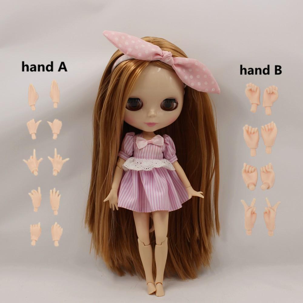 Nackte Mädchen Puppe Körper mit großen lockigen Haaren für Blythe Puppe Mode-, Spielpuppen & Zubehör Puppen & Zubehör