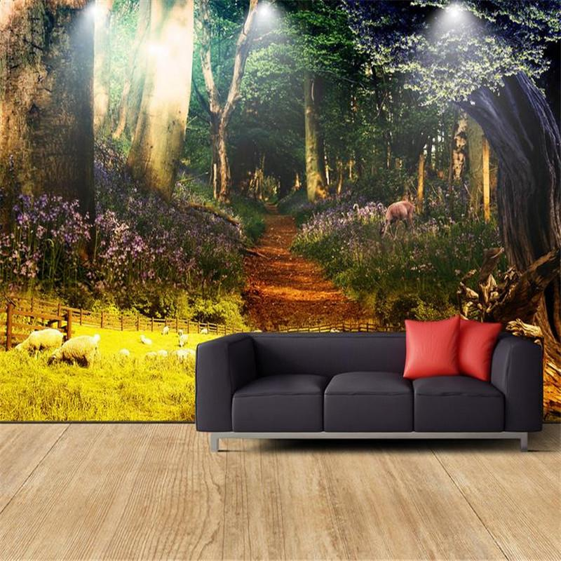 3d Modern Custom High Quality Photo Wallpaper Nature Landscape