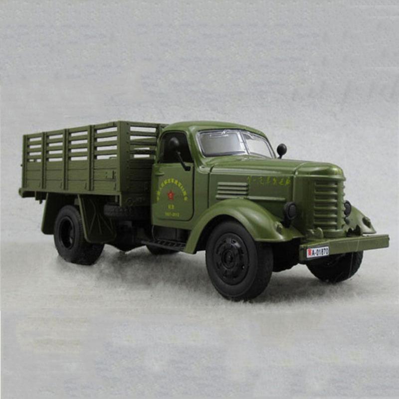 Avec Miliary Jouet Diecast De 1 32 Voiture Camion Enfants Vert Jiefang Truck Modèle Et Son Clair Échelle 35jqcLA4R