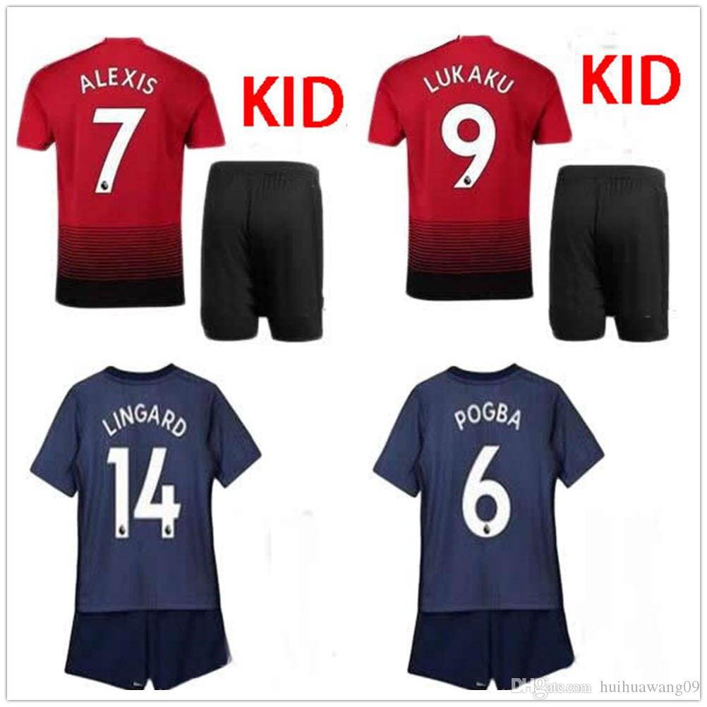 4e4f72886 2019 2018 2019 Lukaku ALEXIS KIDS KIT Utd Soccer Jersey UnITed MATA MATIC  MARTIAL POGBA RASHFORD LINGARD Boys Camiseta De Futbol Football Shirts From  ...