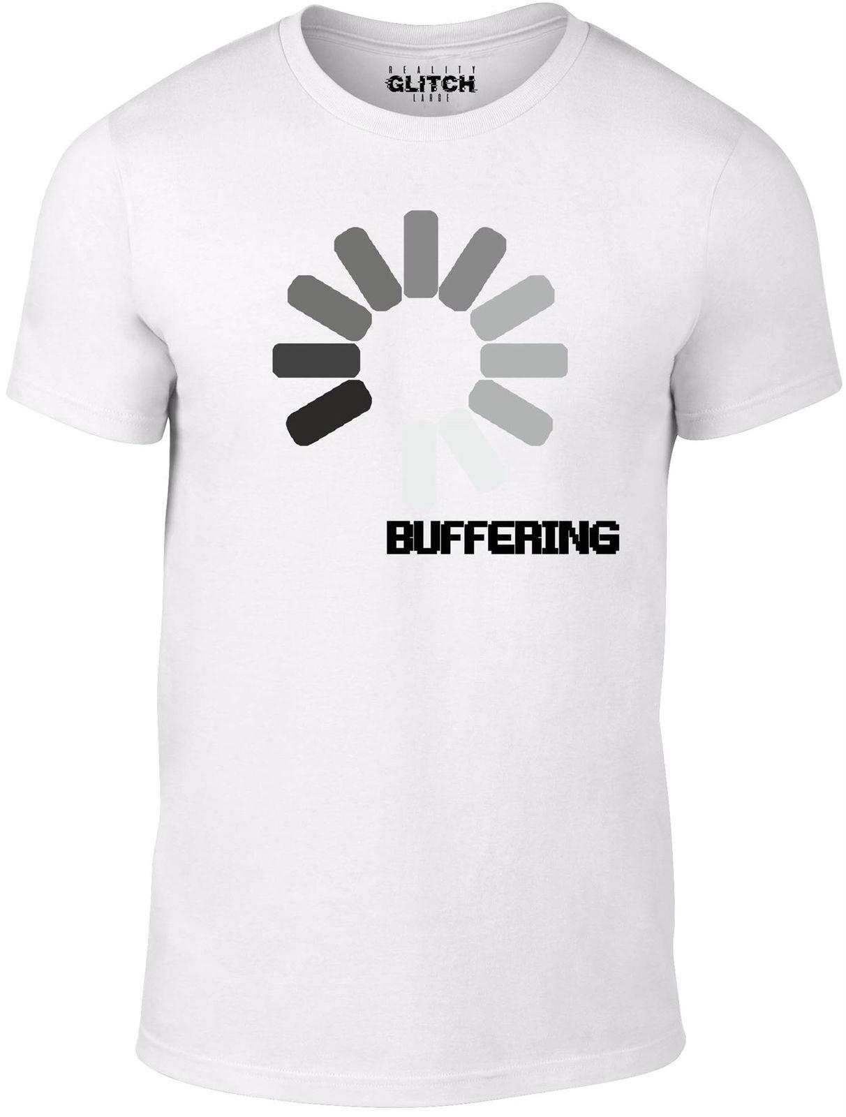 Men s Buffering T-Shirt Internet Broadband Speed Slow Logo