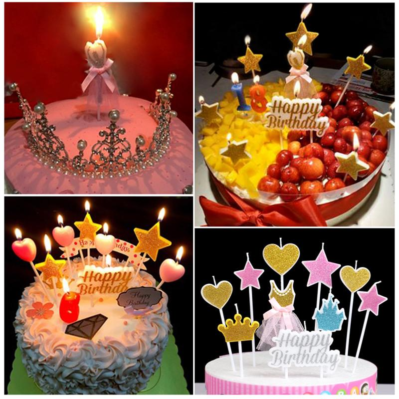 2019 Birthday Cake Candle Kids Gift Star Snow Party Supplies Topper Candles Decorations Decor Baby Happy From Griffith 2108