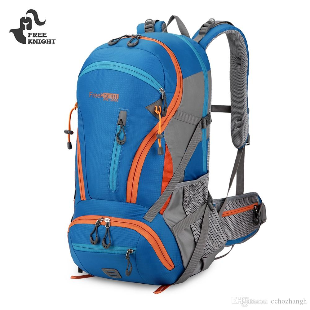 babe8245e3 Free Knight Backpack 45L Water Resistant Climbing Hiking Backpack Men Women  Outdoor Travel Trekking Sports Bag Hiking Rucksack Travel Bags Online  Wheeled ...