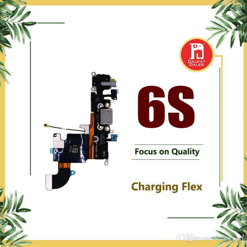 Charging Port Flex For iPhone 6S 4.7 inch Charger Data USB Dock Connector with Headphone Audio Jack Mic Antenna Antena wifi Cable