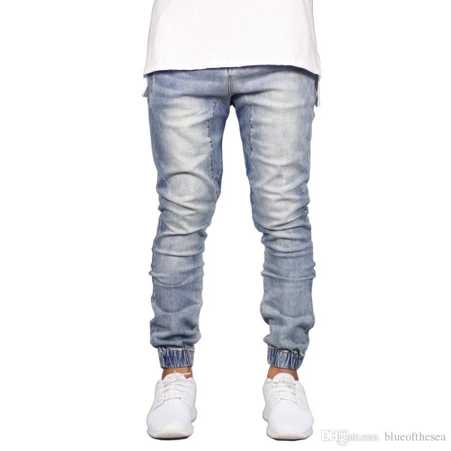 30a76f915b3da Compre Jeans De Moda Para Hombre Pantalones De Chándal Ajustados Para Hip  Hop Joggers De Moda A  35.54 Del Blueofthesea