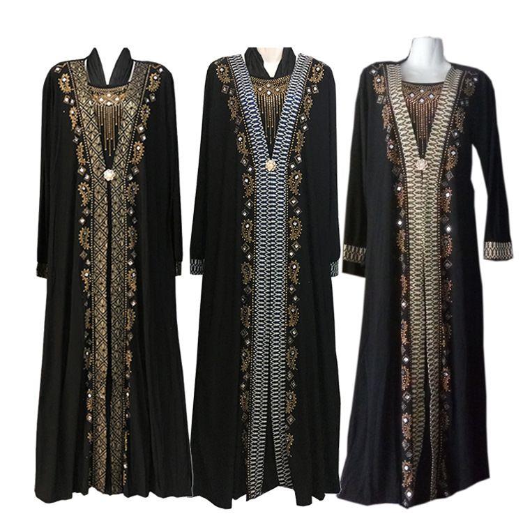 0a63f4a381a 2019 Fashion Arab Muslim Abaya Dress Islamic Clothing For Women Dubai  Kaftan Abaya Dress Turkish Muslim Dresses Modest Dresses From Liumeiwan