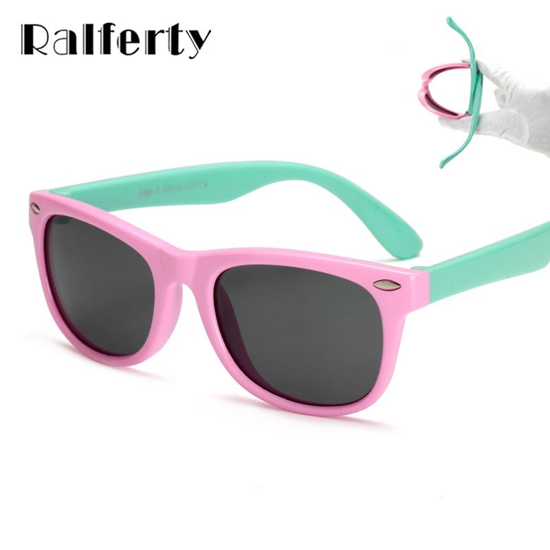 98993dcc4fb Ralferty TR90 Flexible Kids Sunglasses Polarized Child Baby Safety Coating  Sun Glasses UV400 Eyewear Shades Infant Oculos De Sol Sunglasses Brands  Best ...