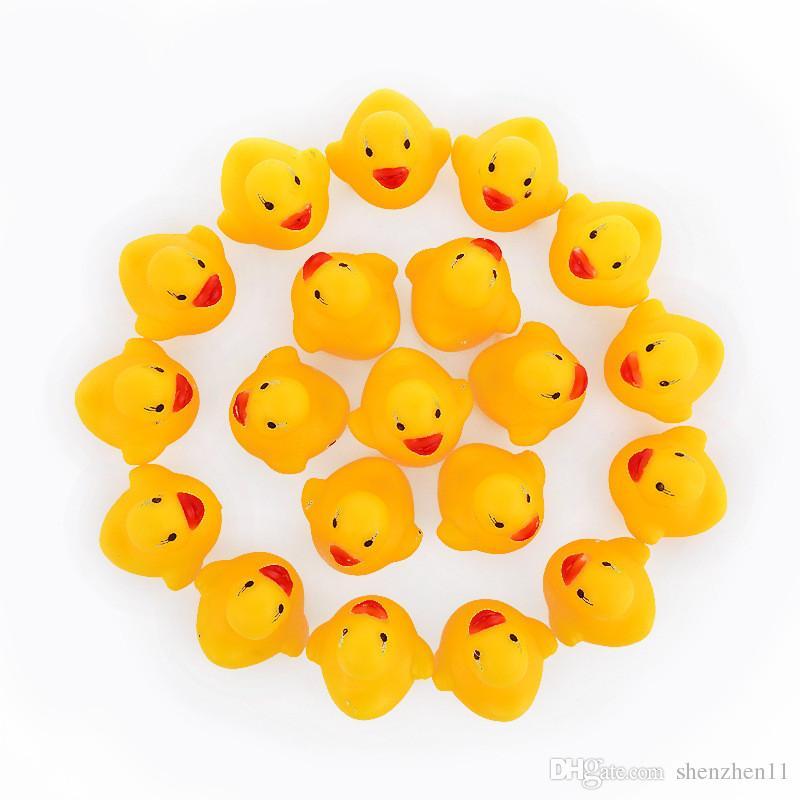Bebê Banho De Água Brinquedo Pato Soa Mini Patos De Borracha Amarela Crianças Banho Pequeno Brinquedo Pato Crianças Presentes de Praia OTH872