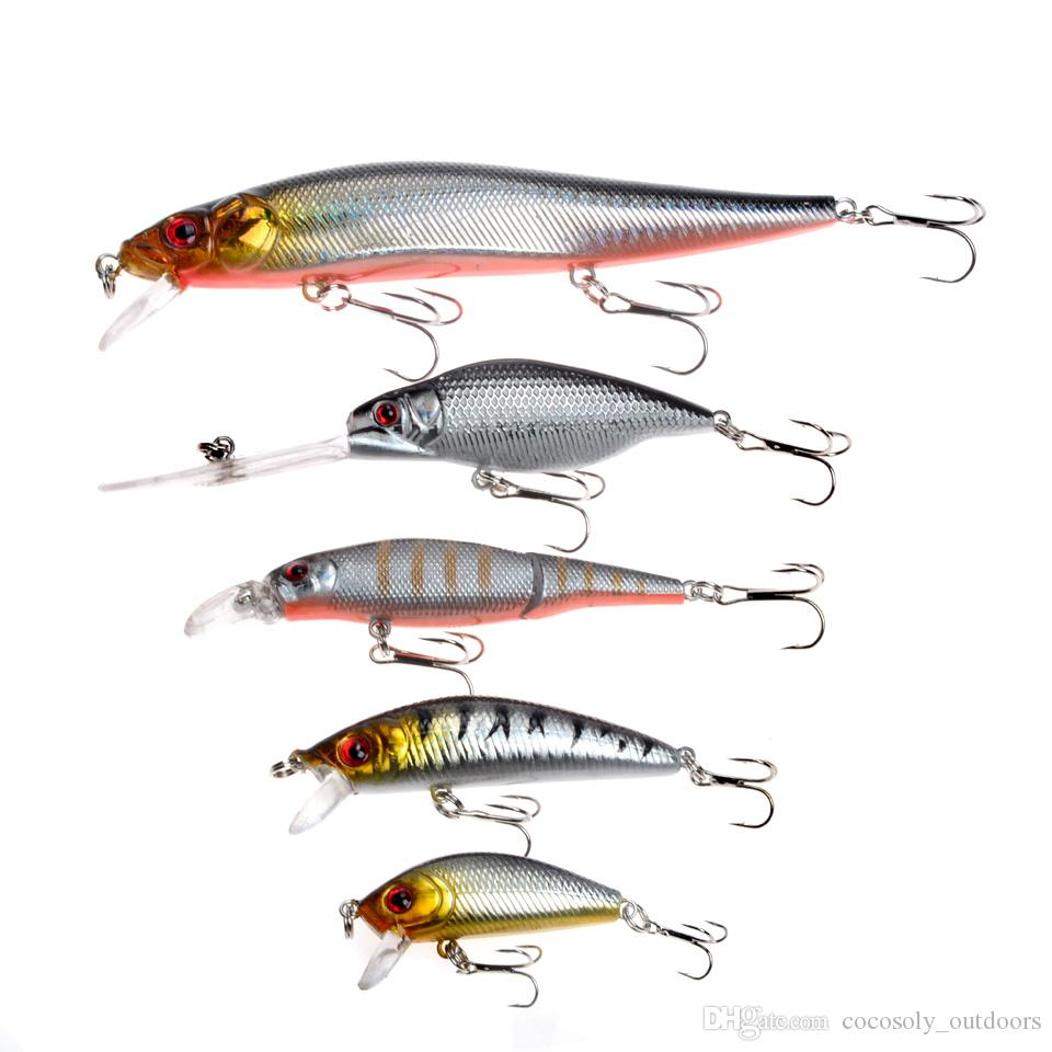 Fishing Lures Set Mixed 5 Models Minnows Bait Artificial Make Bass Crankbaits High Quality Wobblers Fishing Tackle