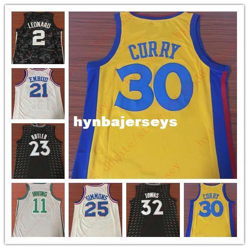 8f6983728 Cheap 30 Stephen Curry 2 Kawhi Leonard 21 Joel Embiid Jersey 23 Jimmy  Butler 11 Kyrie Irving 25 Ben Simmons 32 Towns City Edition Jerseys Custom  Houston ...