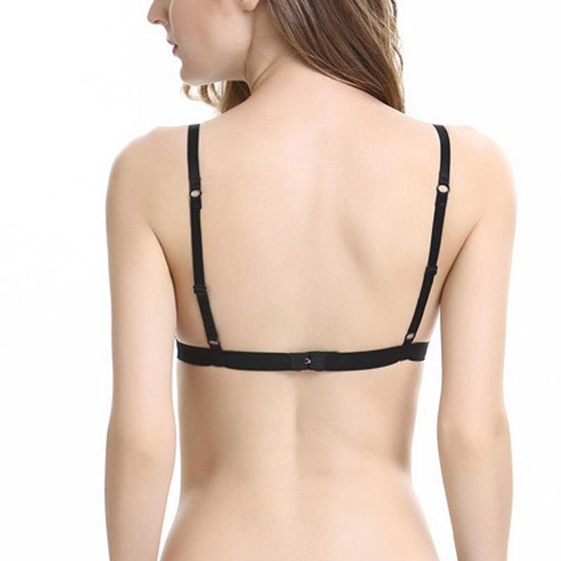 Shitagi Women Ultra-sottile pizzo trasparente Bralette Hot Sexy reggiseno senza soluzione di continuità Confortevole con scollo a V bikini ricamo Wirefree Underwear
