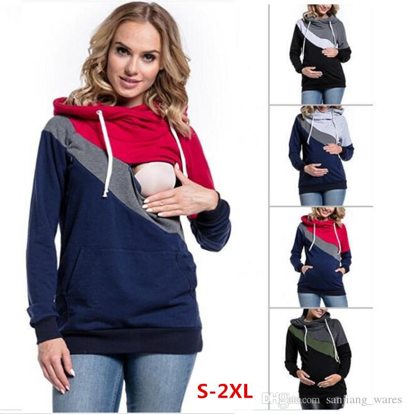 2039f22429e Women Pullover Nursing Hoodie Tops Maternity Pregnant Autumn ...