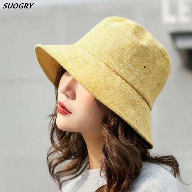 05904d4d234 SUOGRY Women Casual Bucket Hats Fishing Hat Ladies Summer Sun Hat Caps  Bucket Hat Bucket Hat Fishing Hat Online with  14.65 Piece on Lovesongs s  Store ...