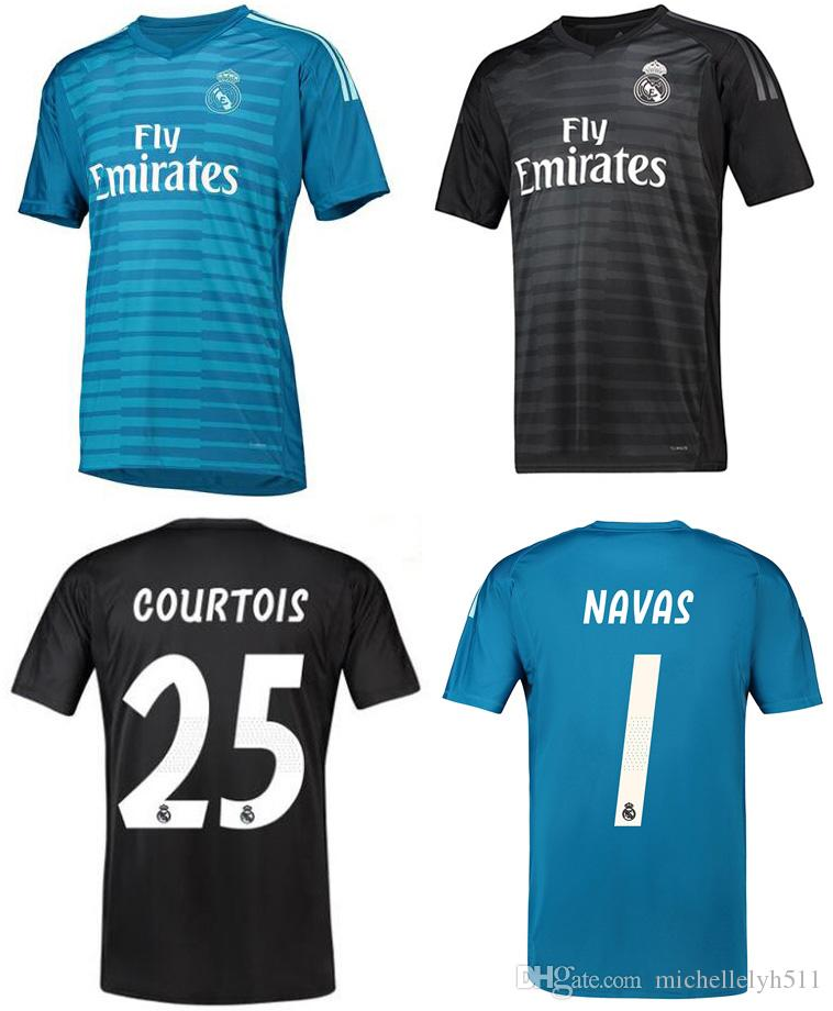 18 19 Real Madrid Camiseta De Fútbol De Portero Camiseta De Fútbol 2018  2019 RMD Camiseta De Fútbol COURTOS NAVAS CASILLA Camiseta De Futbol Por ... 2cc0dfbfe4f28