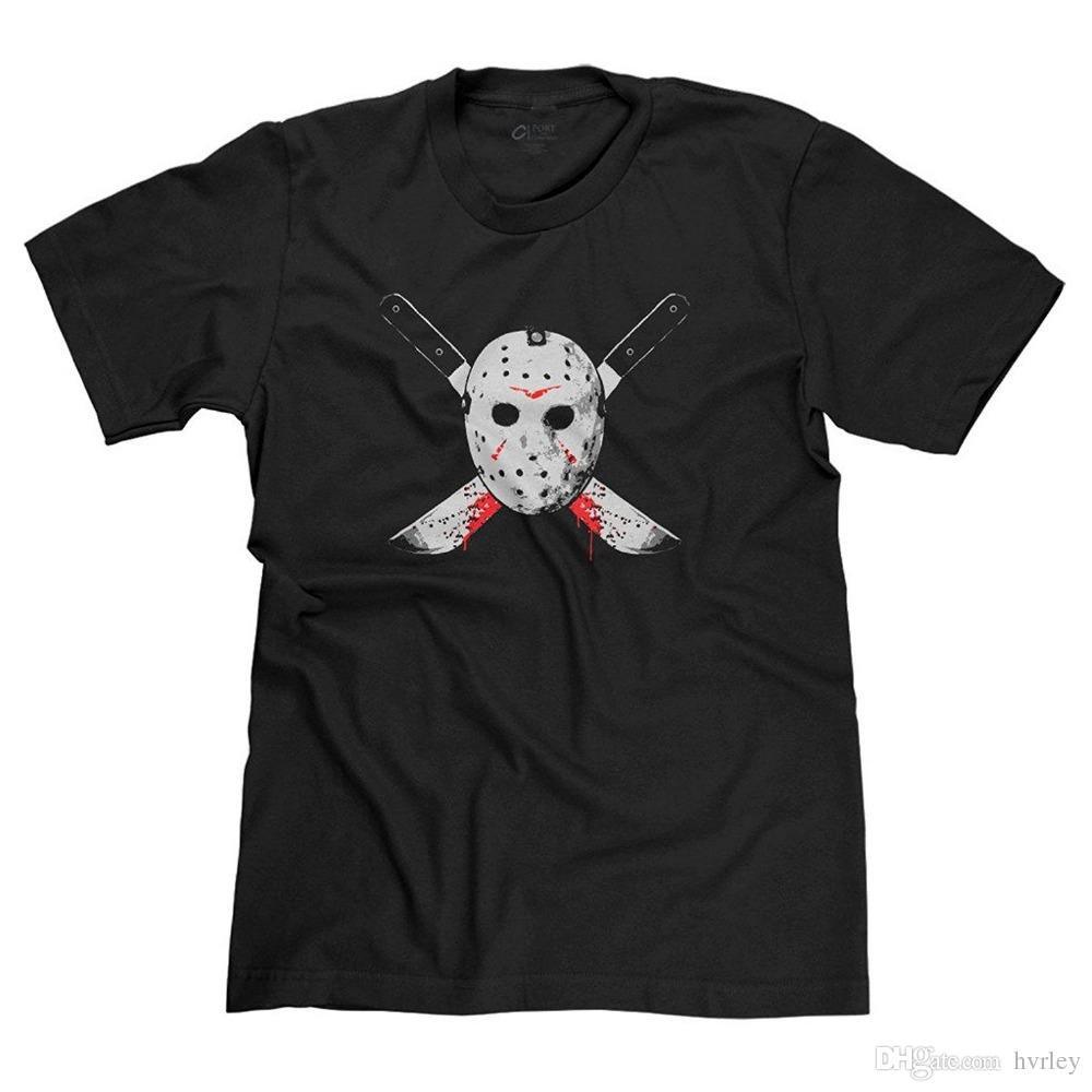 New Arrival Man Printed T Shirt Jason Voorhees Friday The 13th Horror Fan Men S  T Shirt Printed 3d T Shirt Cool Top Fashion Design T Shirts Online Order T  ... 1d33b0b64d