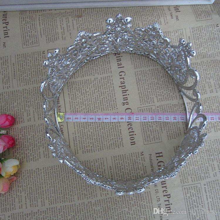 럭셔리 신부 크라운 큰 라인 석 크리스탈 로얄 웨딩 퀸 크라운 공주 크리스탈 바로크 생일 파티 왕관 Quinceaner 퀸