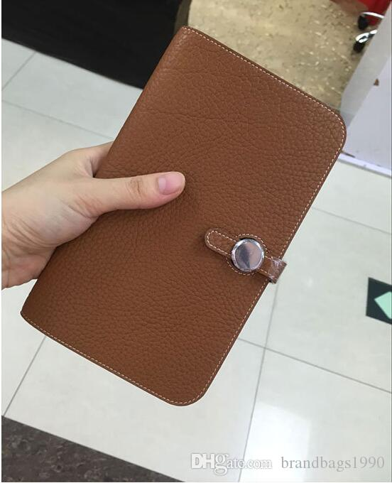 2018 Big brand Super Soft Long Wallets Card holders Purse Passport Bags fashion women Hasp cowhide Genuine leather wallet For lady