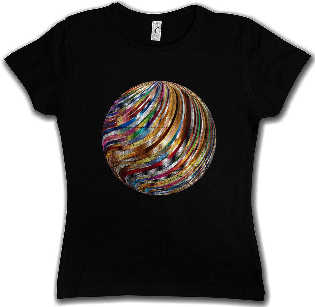 Grosshandel Frauen Tee Disco Ball T Shirt Retro Licht Oldies Musik