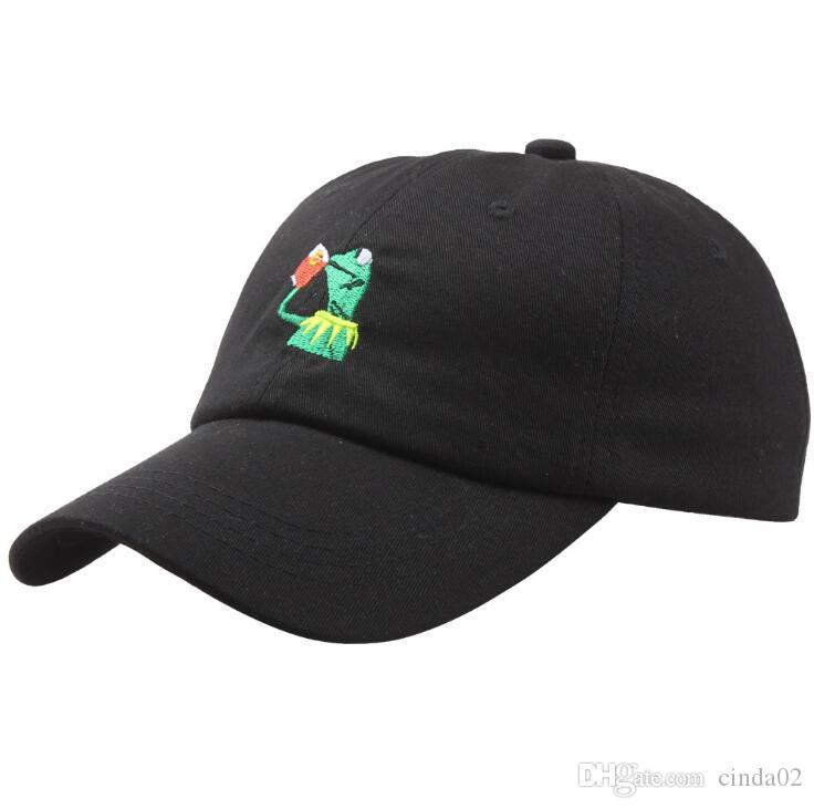 KERMIT NONE OF MY BUSINESS UNSTRUCTURED DAD HAT CAP FROG TEA LEBRON JAMES  NEW Kenye West Ye Bear Dad Cap Big Daddy Hat Compton Cap Baseball Caps For  Women ... 3afec98900a5