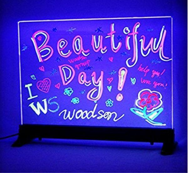 design your own Custom Flashing Illuminated Erasable Neon LED Message Menu  Sign Clear Glass Writing Board beer bar neon sign RGB 7d964b8a5f