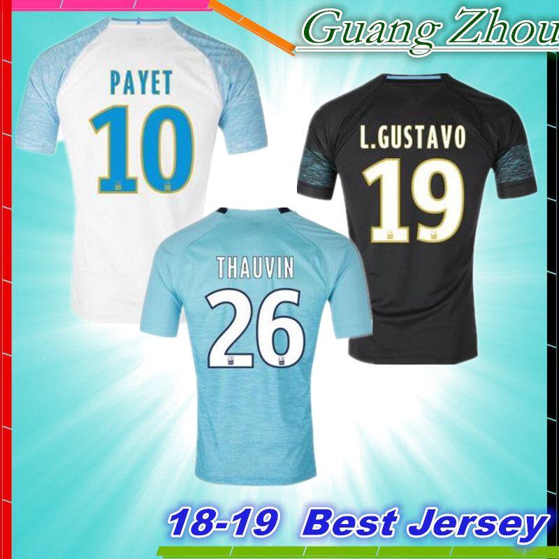 best service dd24a ce9c5 Olympique de Marseille Soccer jersey 2018 2019 OM Marseille Maillot De Foot  PAYET L.GUSTAVO THAUVIN jerseys Marseille shirts