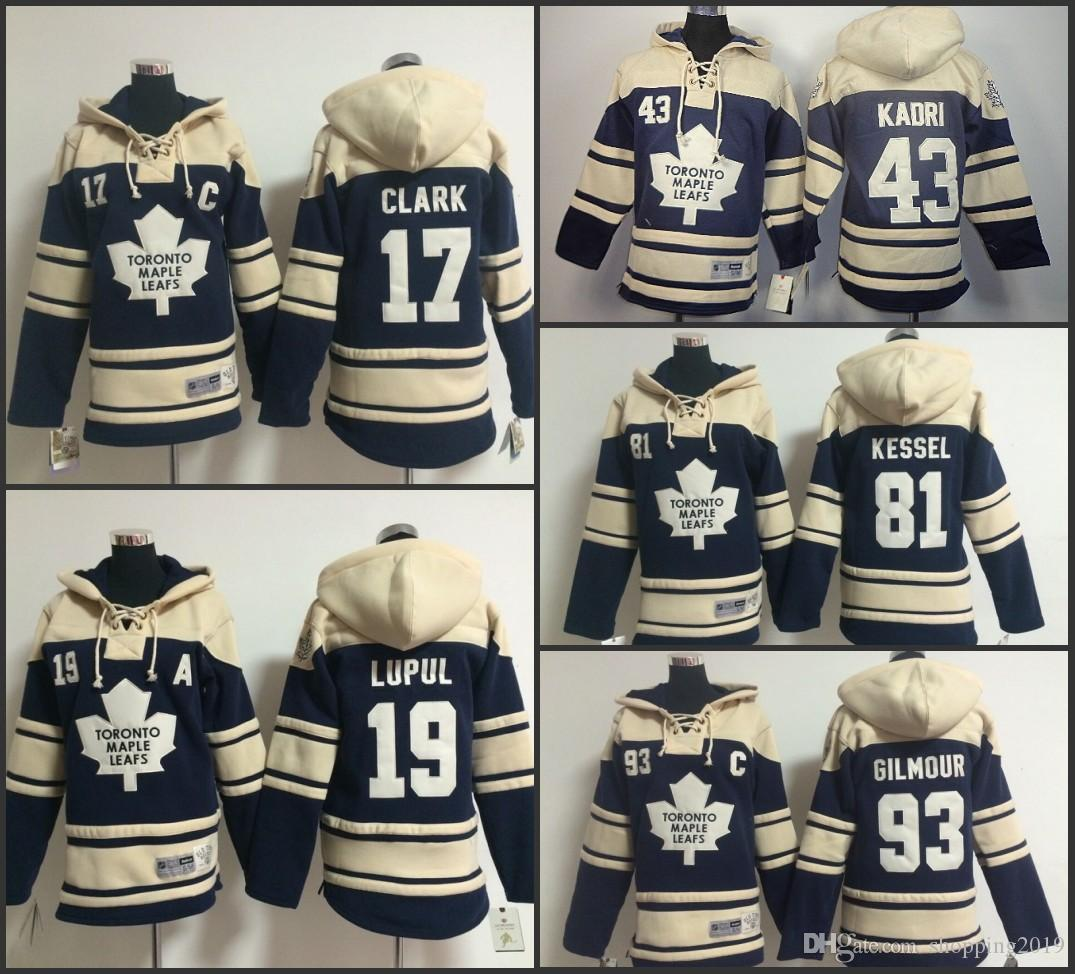 Cheap Stitched Toronto Maple Leafs Hoodies 17 Wendel Clark 81 Phil ... a3358f6d3
