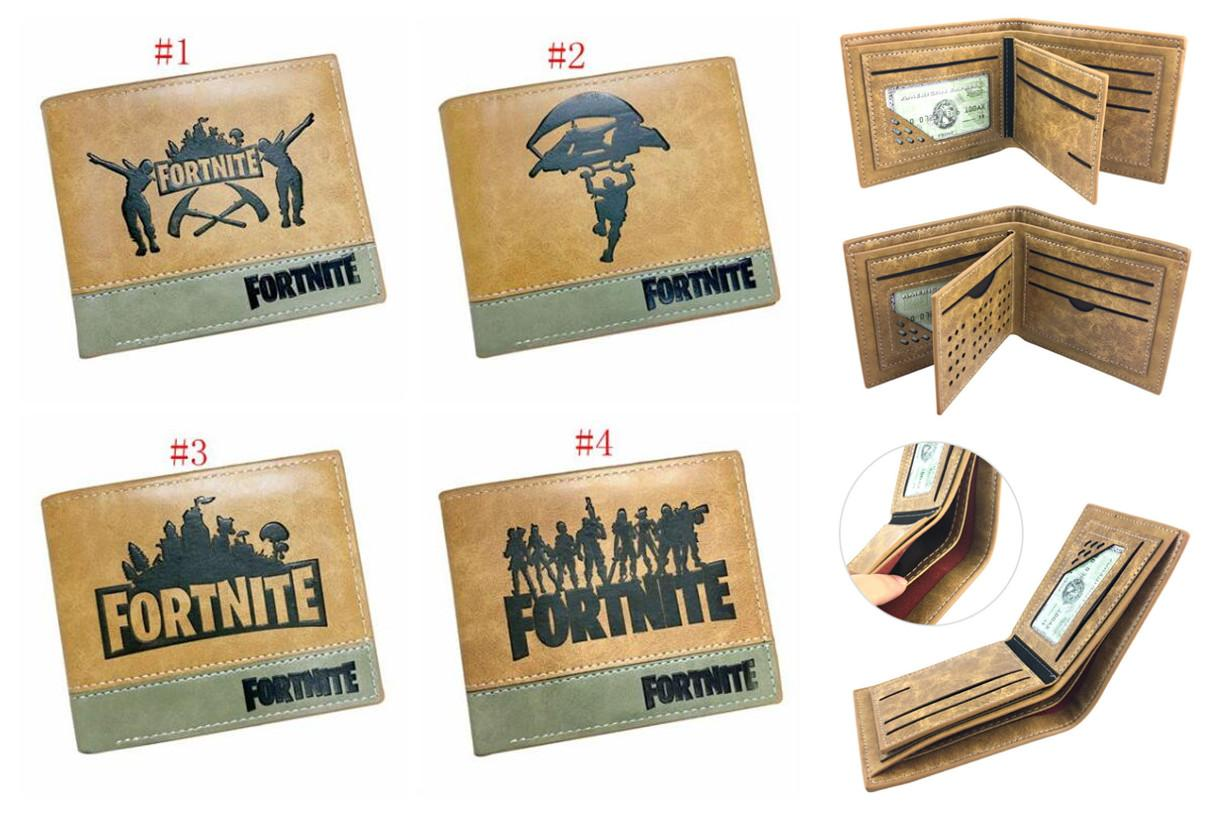 Game Fortnite Battle Royale Cosplay Wallet with Credit Card Slot Coin  Pocket Children Short Purse Cartoon Toys for Kids Gift Fold Toys