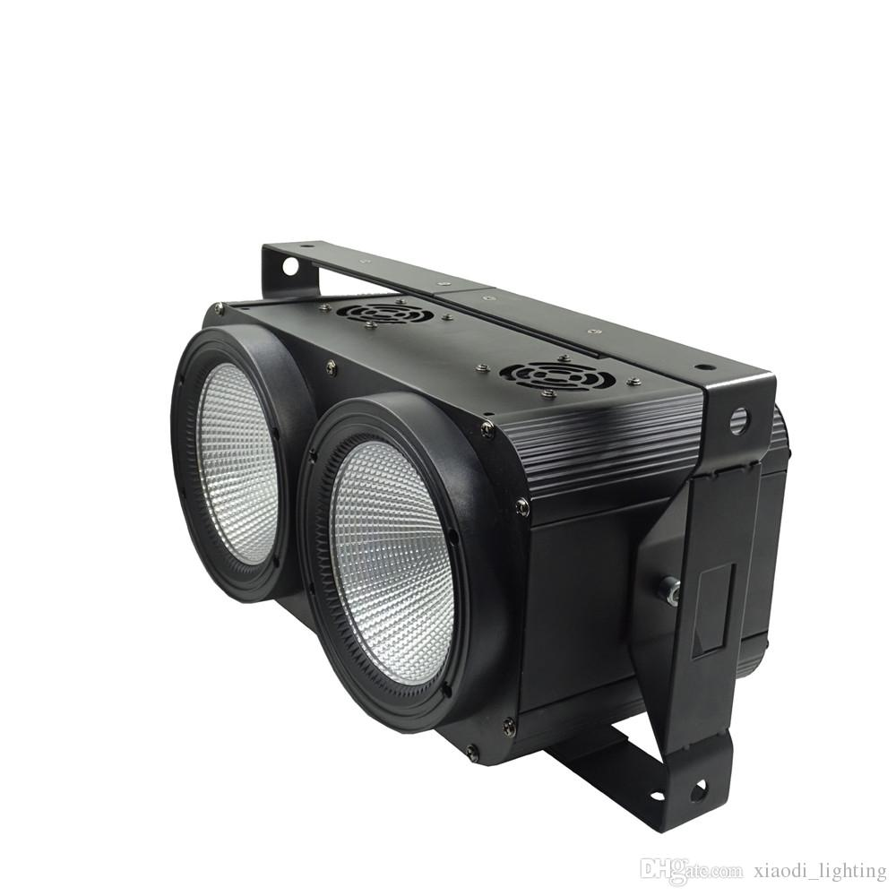2x100W LED COB 2 Eyes Blinder Warm/Cool White DMX Stage LED Strobe Light Club Show Night DJ Disco Professional for Stage