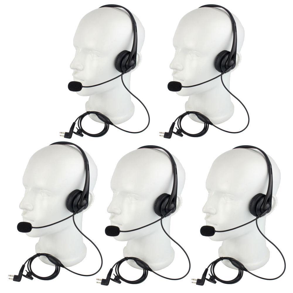 5X Best 2Pin PTT MIC Headset Headset for Motorola Walkie Talkie Radio New + Track