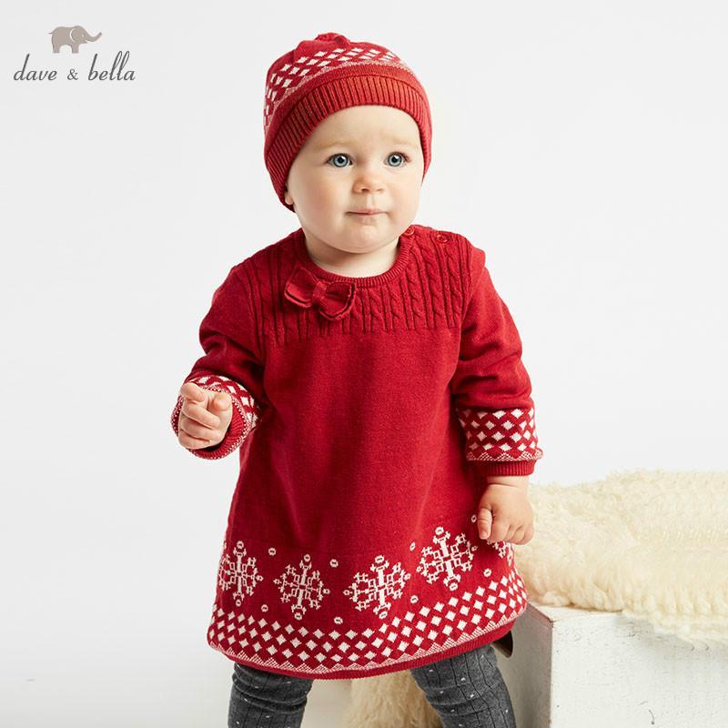 Großhandel Dba7938 Dave Bella Herbst Baby Strickkleid Mädchen