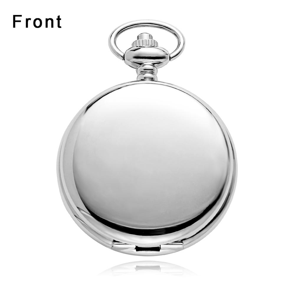 Ouyawei 2017 Antique Moon Phase Mechanical Pocket Watches With Chain Skeleton Dial Men Clock Necklace Pocket Fob Watch