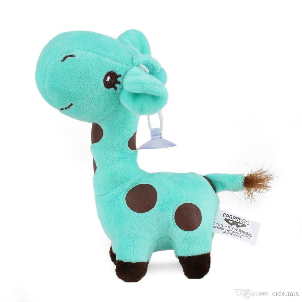 18CM Cute Plush Giraffe Lovely Animal Deer Doll for Car Interior Ornament Accessories