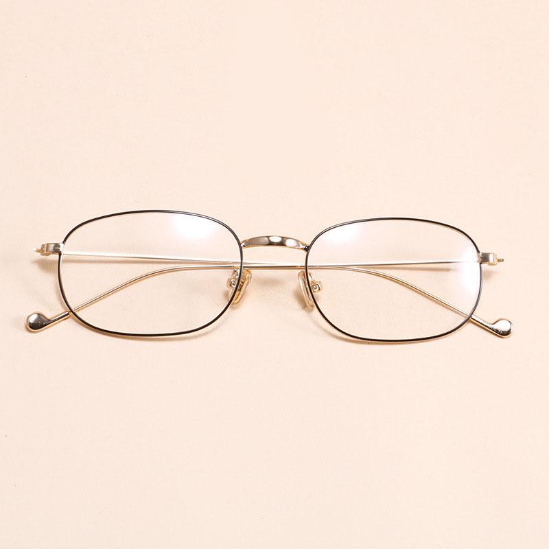 070a980516 Compre Metal Oval Gafas Ópticas Para Hombres Diseño De Moda Acero  Inoxidable Lente Transparente Miopía Gafas Gafas Montura Gafas De Sol  Feminino A $30.86 ...