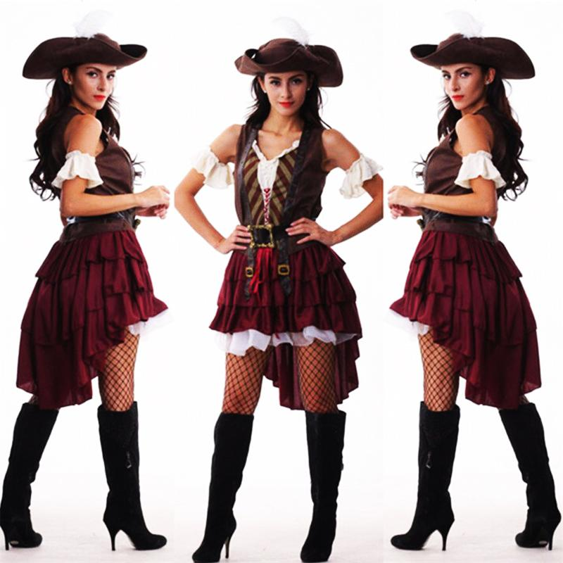 2019 New Sexy Women Pirate Costume Halloween Fancy Party Dress Carnival  Perfor Mance High Quality Adult Pirate Cosplay Costumes Canada 2019 From  Jessicazeng ... b8273f47a02