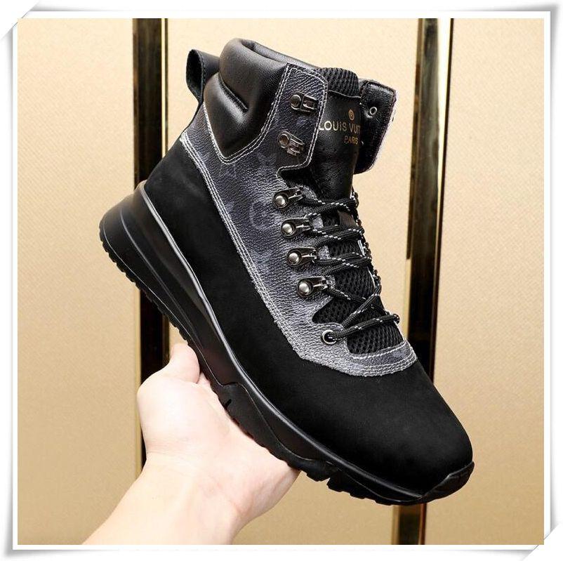 Großhandel Herren Schuhe Sneakers 2018 Winter Stiefeletten Wasserdicht  Schnee Stiefel Freizeit Martin Stiefel Schuhe High Top Footwears Italien  Style Trend ... 9419703ea9
