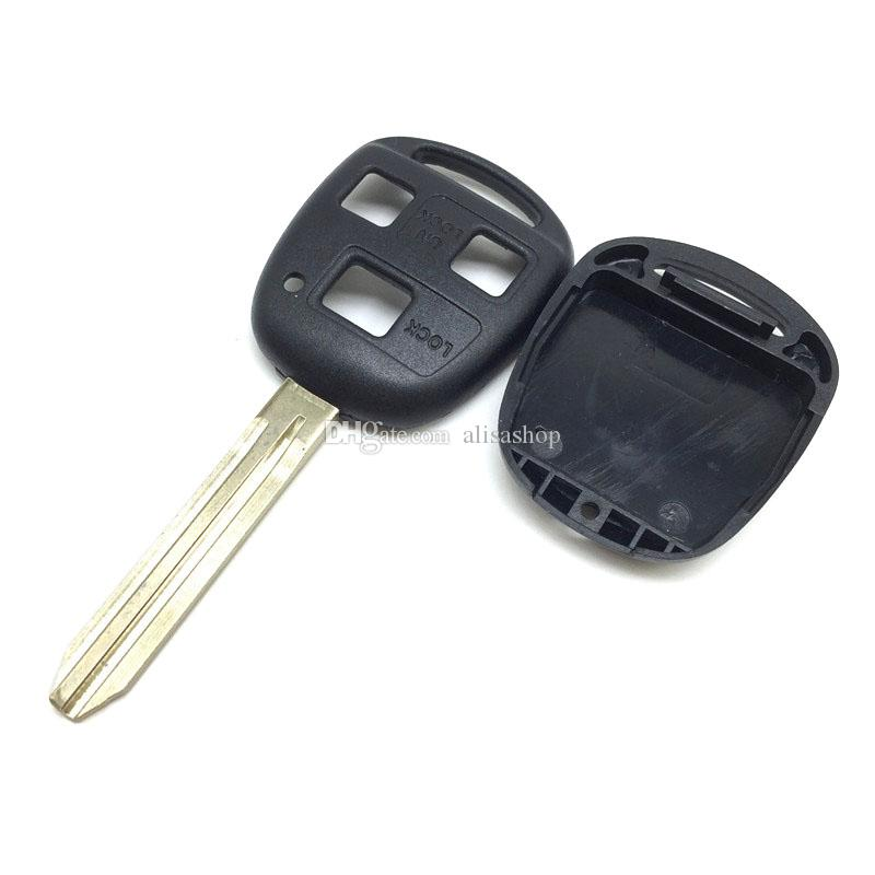 Car-styling 3 Buttons Remote Key Fob Cover For TOYOTA 43 Cruiser Camry