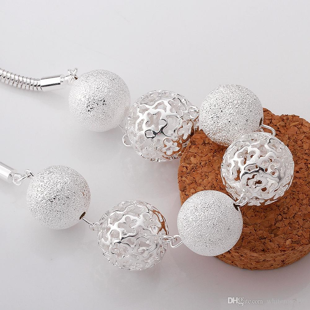 Commercio all'ingrosso - regalo di Natale di prezzi più bassi al dettaglio, spedizione gratuita, nuova collana di moda in argento 925 yN680