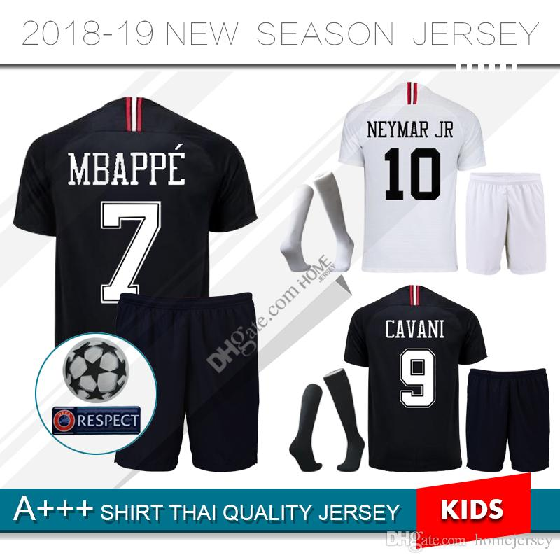 738aae4c5 2019 PSG Third Home Soccer Jersey 2019 Kids Kit Paris Saint Germain Third  Away  10 NEYMAR JR  7 MBAPPE Soccer Shirt With Champion League From  Homejersey
