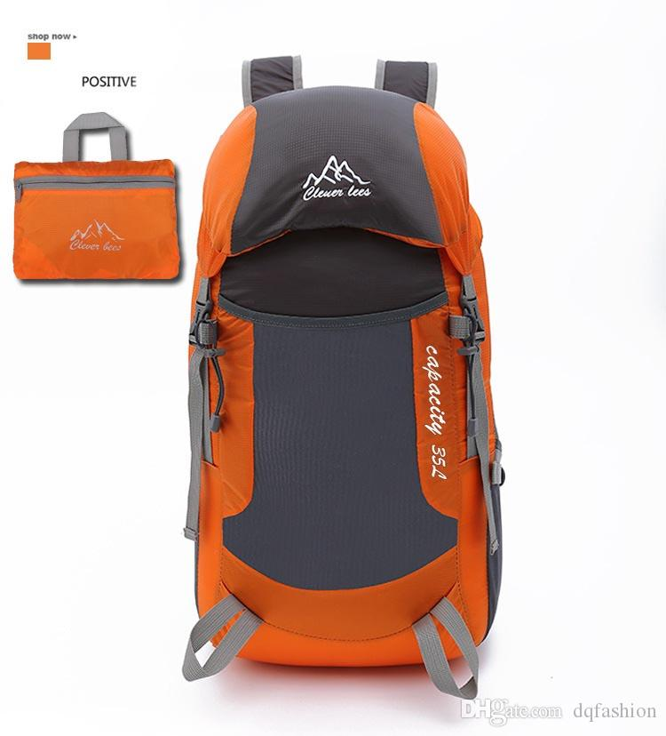 New Outdoor Folding Backpack Men's Mountaineering Travel Backpack Fashionable Women's Light Sports Folding Backpack