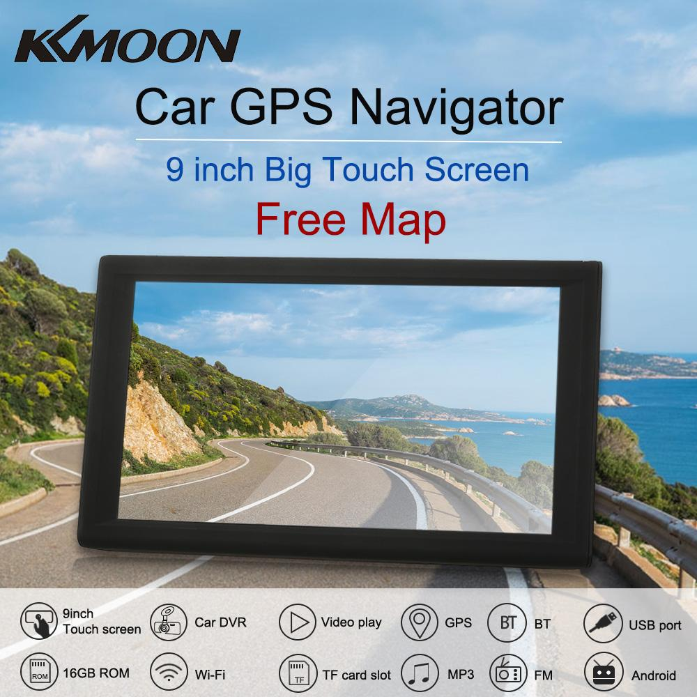 KKmoon 9inch Tablet GPS Navigation Car DVR Dash Cam Recorder Free Map  Android System 16GB Portable Car Stereo Audio Player 1080P