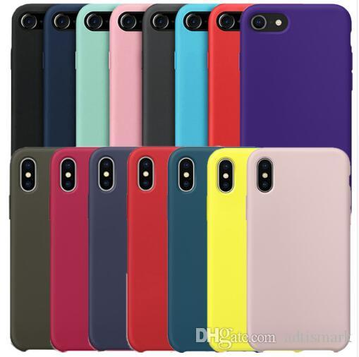best loved 1e69a 5d498 Wholesale Original Have LOGO Silicone Case For iPhone 7 8 Plus Phone  Silicon Cover For iphone X 6S 6 Plus For Apple Retail Box