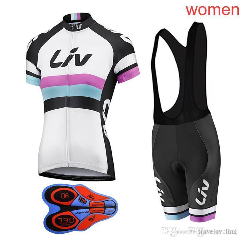 Short Sleeve 2018 Cycling Jersey Team LIV Cycling Clothing 9D Bib ... 80522a718