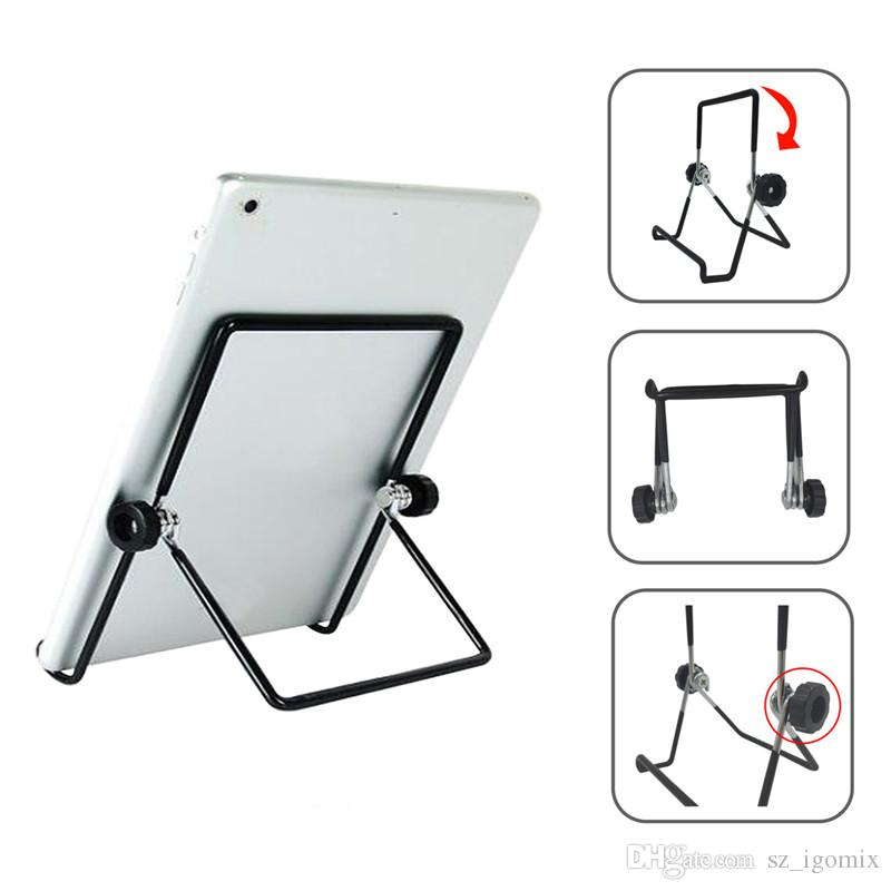 Tablet PC Stand Metal Foldable Holder Multi Angle Stand Suitable for iPad Samsung Tab Pad Xoom