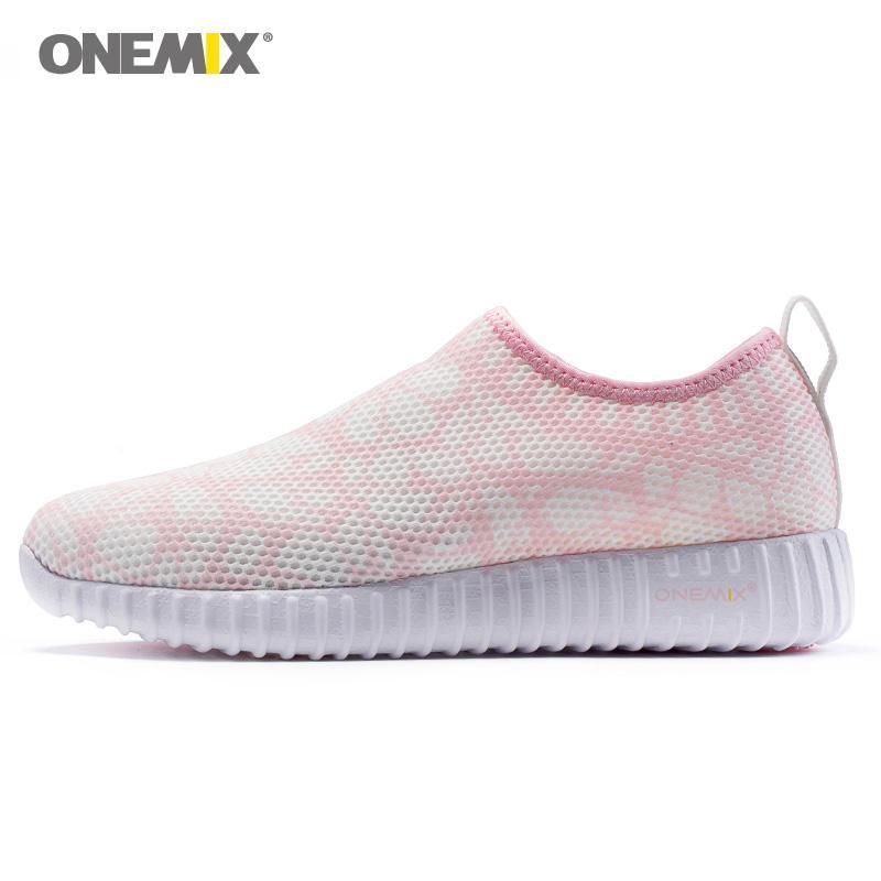 d276e5c198 Compre ONEMIX Plataforma Mulher Sapatos De Caminhada Para As Mulheres Super  Light Dança Loafers Esportivos Rosa Clássico Jogging Sneakers Calçado Ao Ar  ...