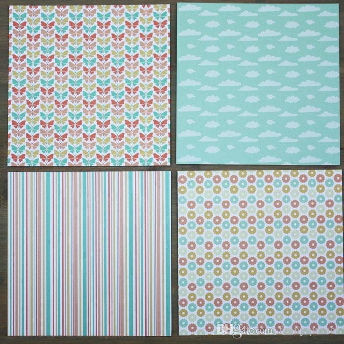 "DIY Photo Album Scrapbooking set Decorative Papers Sweet Baby caft paper 6""inch X 6"" inch Single Side Printed"