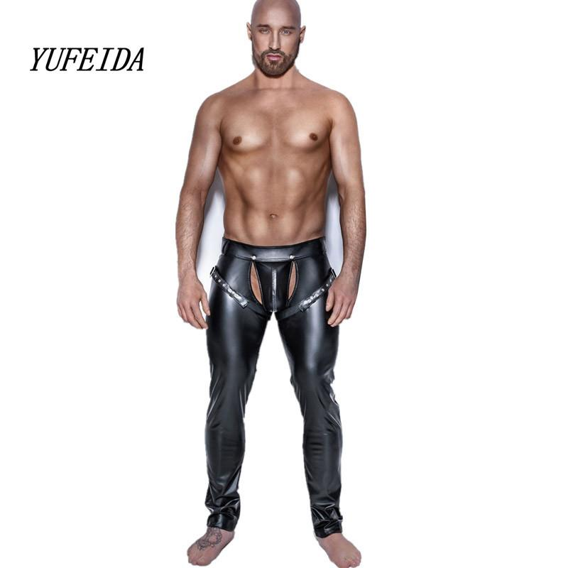Sexy muscle leather pants