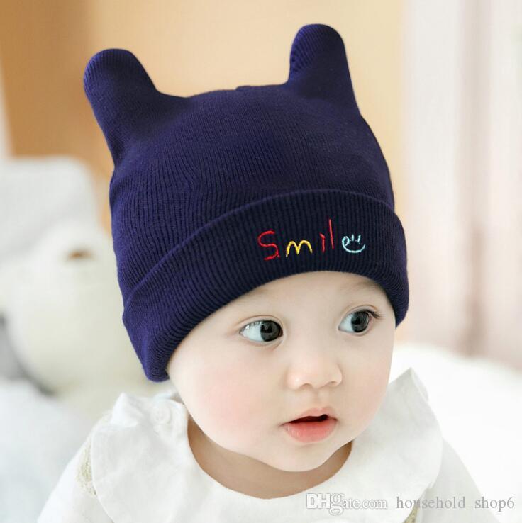 629f676cf2e 2019 Cartoon Baby Kids Hats Cat Knitted Cap Beard With Ears Winter Warm Newborn  Caps Beanies Wool Girls Boys Hats Crochet From Household shop6