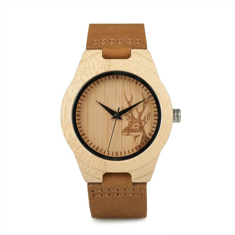 c9ddee058b6 Gift Gifts BOBO BIRD Classic Elk Design Women Bamboo Watch Quartz Leather  Wristwatch Gift For Lady Online Watches Diamond Watches From Wrist2 watch
